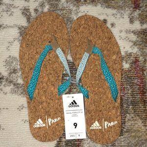 Adidas parley flip flops